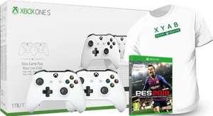 Xbox One S 1TB + 2 Mando Wireless + Pro Evolution Soccer 2019