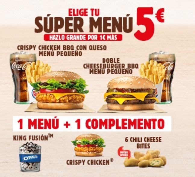 Oferta Burger King 2 Menus Como Imprimir Foto Em Madeira