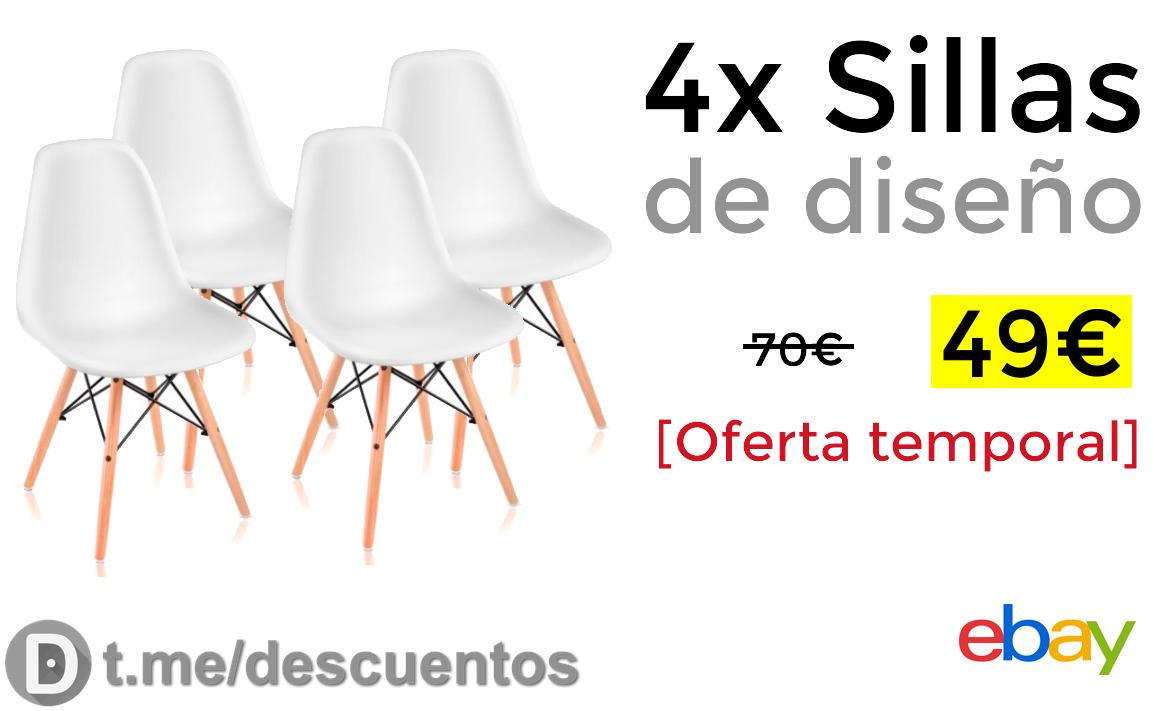 4x sillas de dise o solo 49 for Sillas diseno oferta