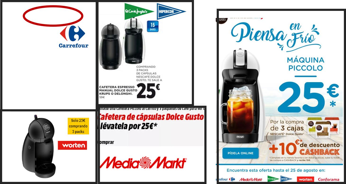 Cafetera Dolce Gusto Piccolo por 15€! ( Compra de 3 cajas