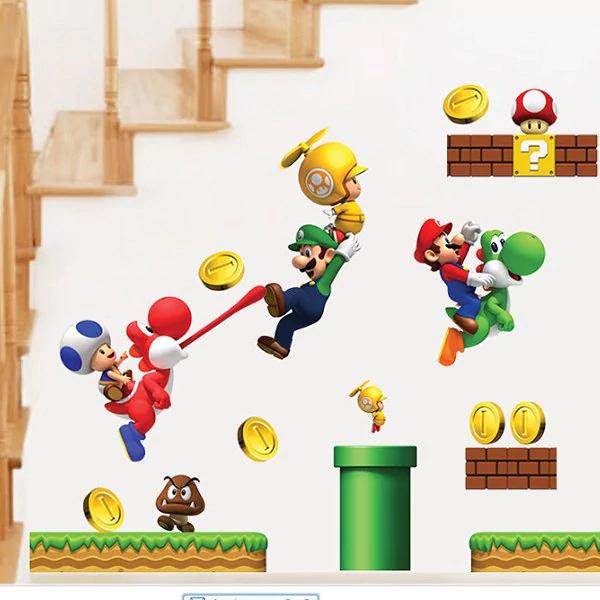 Adhesivo de pared temática Super Mario