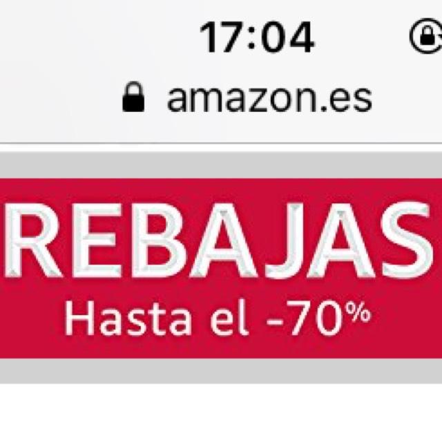 Amazon Rebajas de hasta 70%!