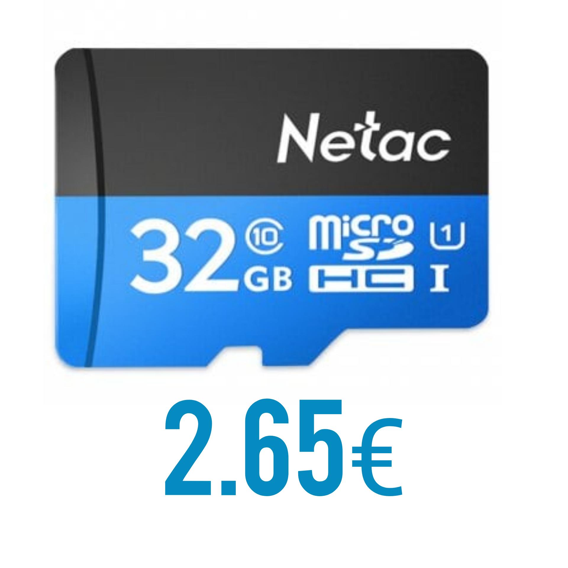 [Vuelve el ofertón] MicroSD Netac 32Gb - Clase 10