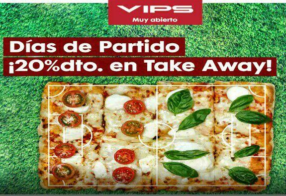 20% en Vips take away