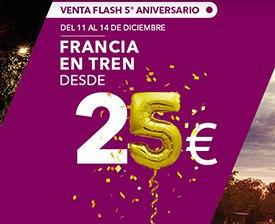 Promoción Renfe: Francia en tren desde 25€