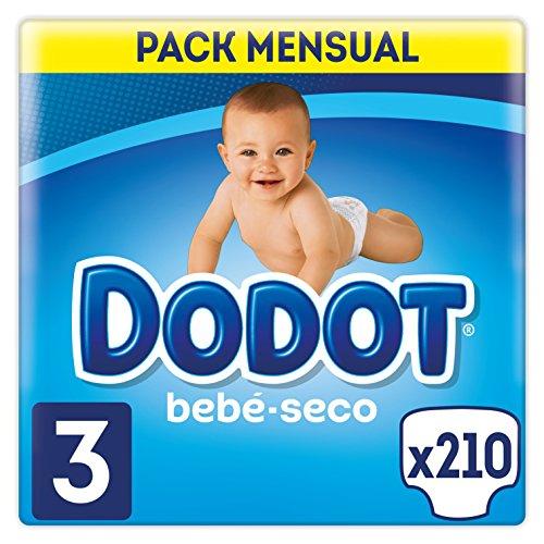 Dodot Bebé-Seco - Talla 3 - 210 Pañales