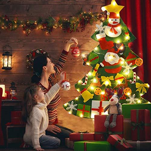 árbol de Navidad de fieltro con led