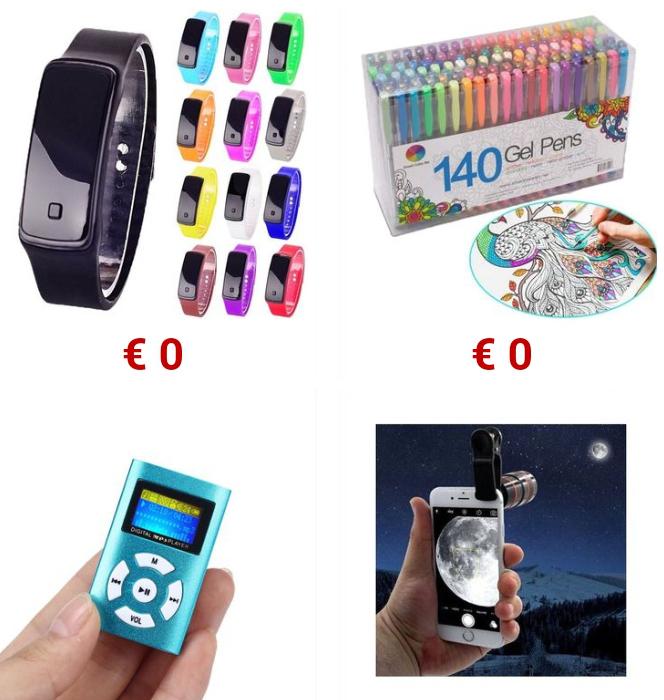 Productos gratis con cuenta nueva en Vova