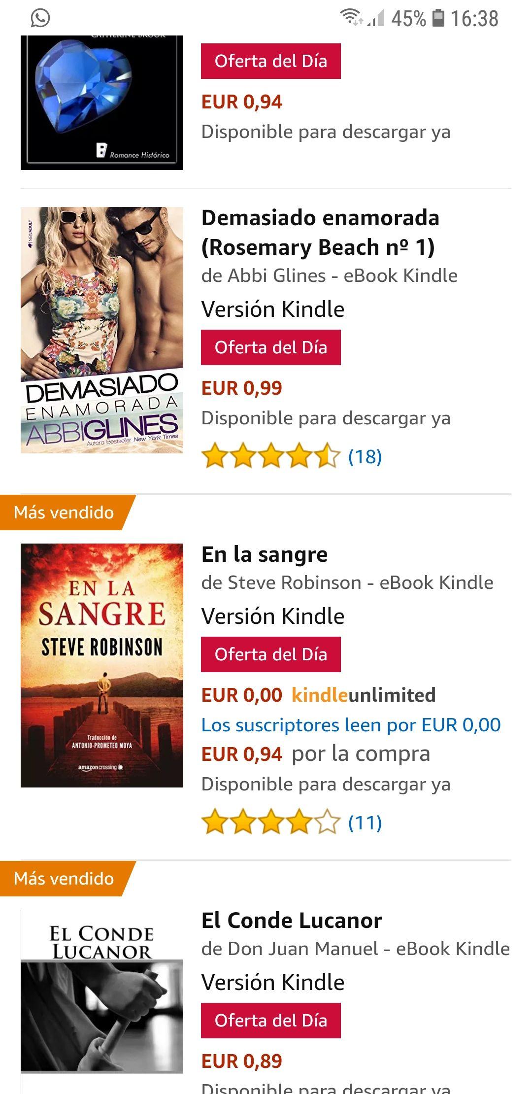 4 libros para descargar por menos de 1€ cada uno