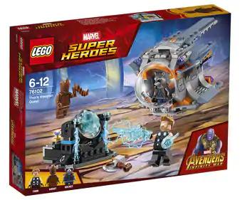 LEGO Súper héroes 76102 - Aventura tras el arma de Thor, en Alcampo Alicante