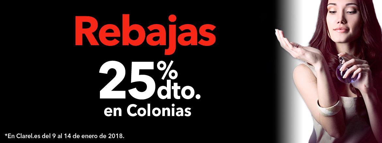 25% DESCUENTO EN COLONIAS