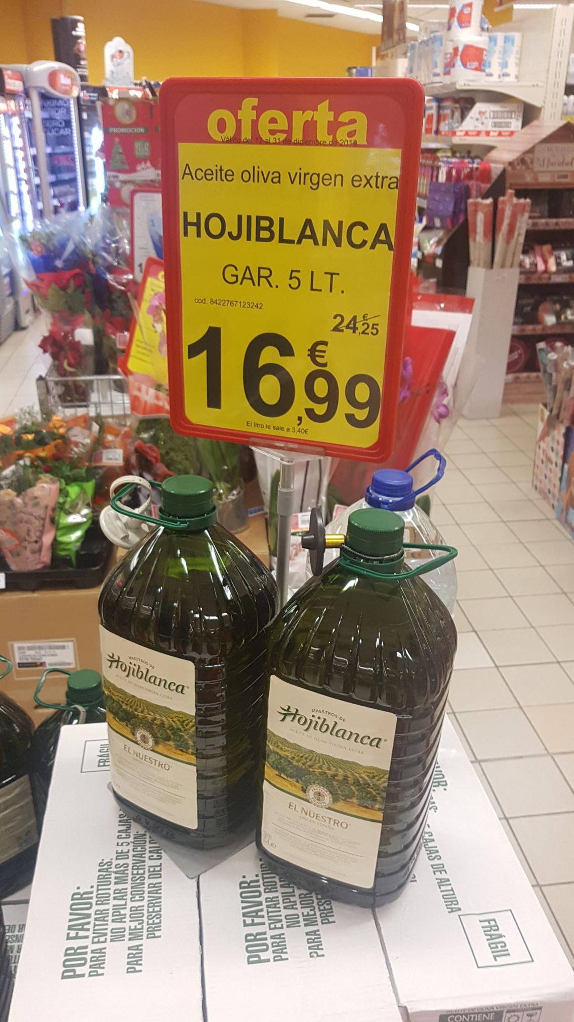 Aceite de oliva virgen extra 5L Hojiblanca Supersol