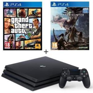 Pack PS4 Pro 1 Tb + GTA V + Monster Hunter World solo 339,99€