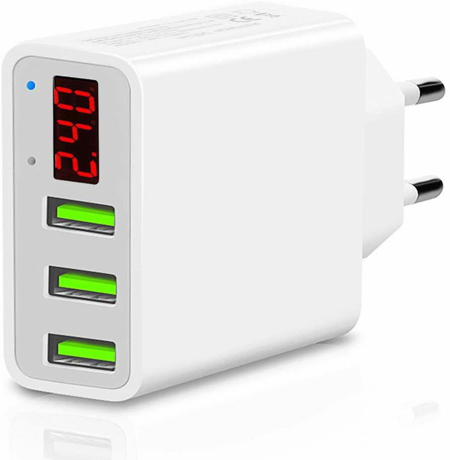 TTMOW Cargador USB de Pared con Pantalla LCD