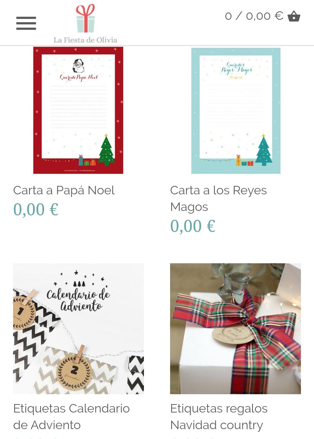 Imprimibles gratis temática Navidad