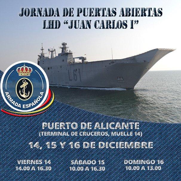 Visita Gratuita al buque Insignia Juan Carlos I en Alicante