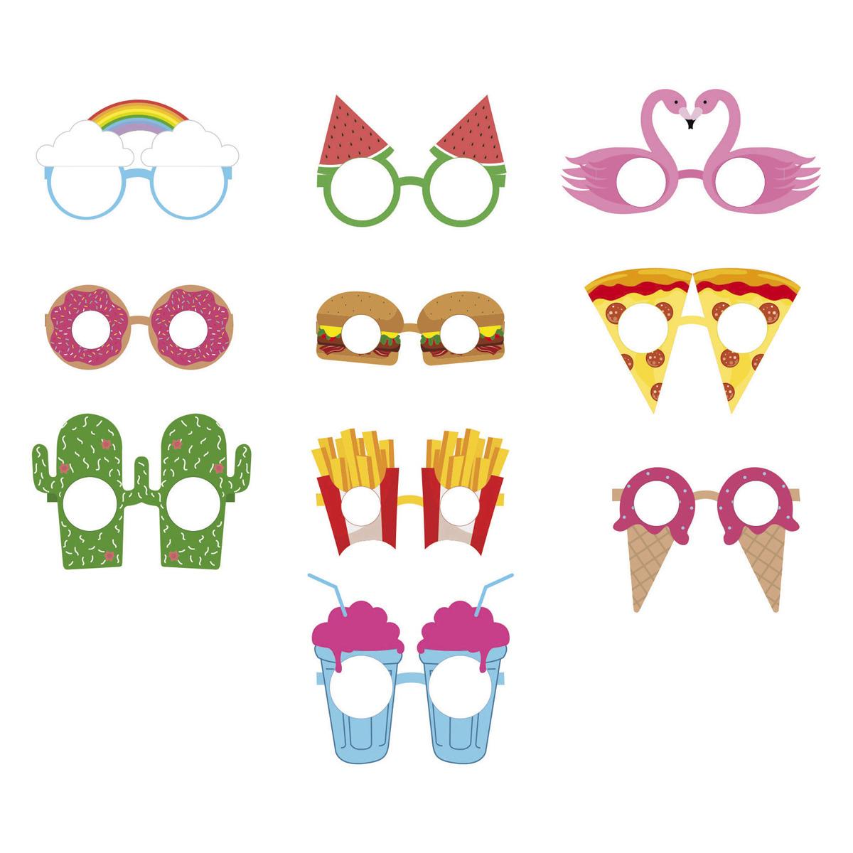 Pack 10 Gafas de Fiesta Crazy