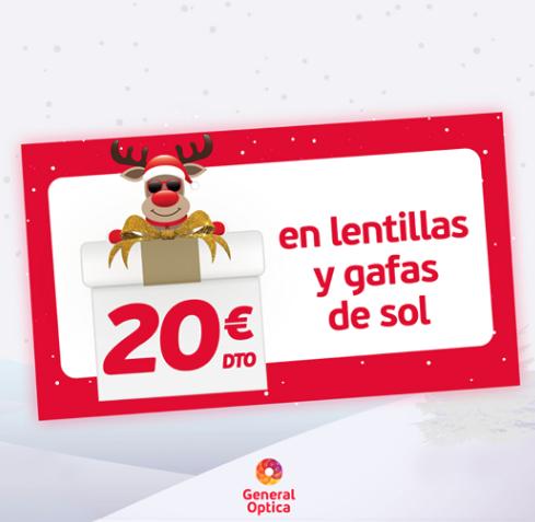 20€ de descuento  en Lentillas y Gafas de Sol
