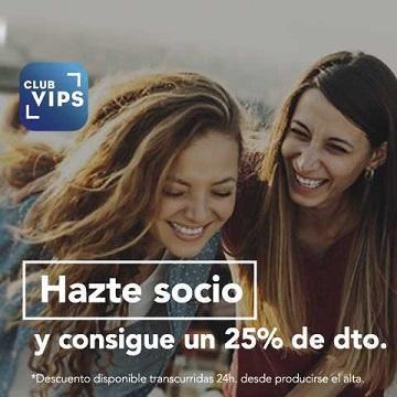 25% de descuento en VIPS