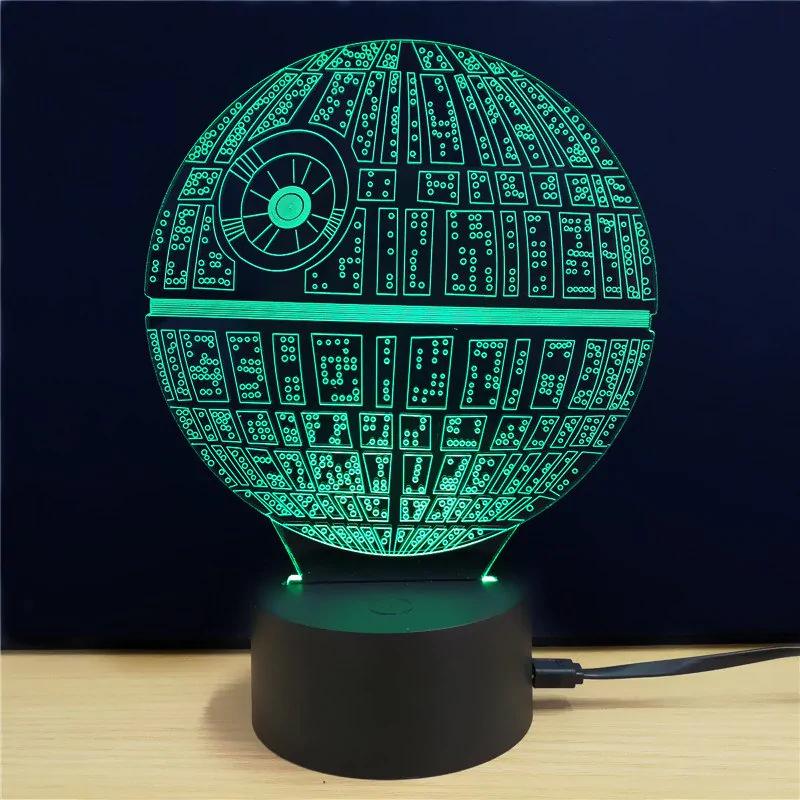 Lámpara 3D de la Estrella de la muerte