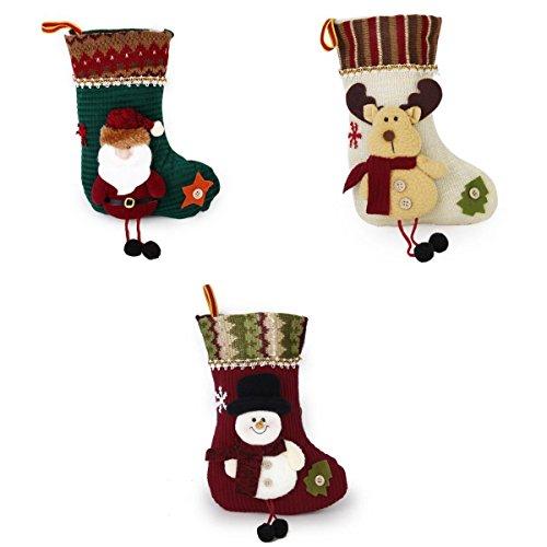 3 Calcetines regalo de Navidad