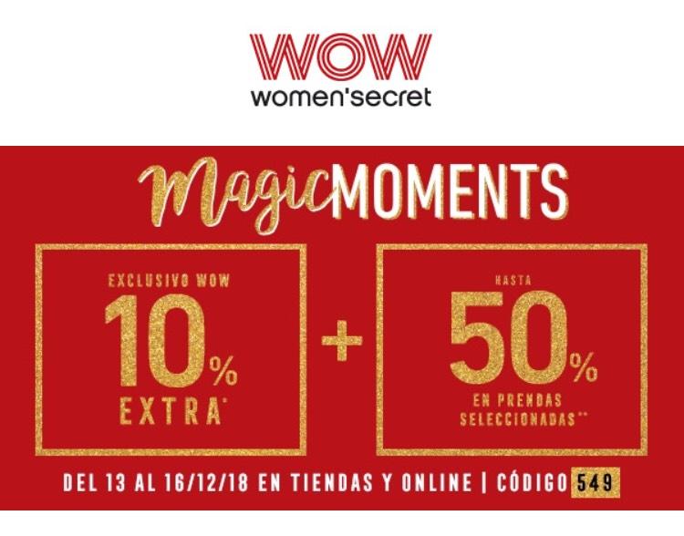 WOMEN'S SECRET: 50% + 10% adicional Club WOW