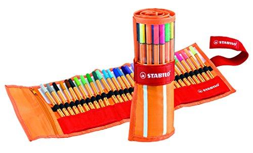 STABILO point 88 - Estuche premium de tela  30 colores, porque nunca son suficientes colores