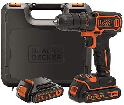 Taladro black&decker con batería de litio.