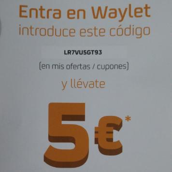 Descuento Waylet 5€ en Repsol (solo Leganés)