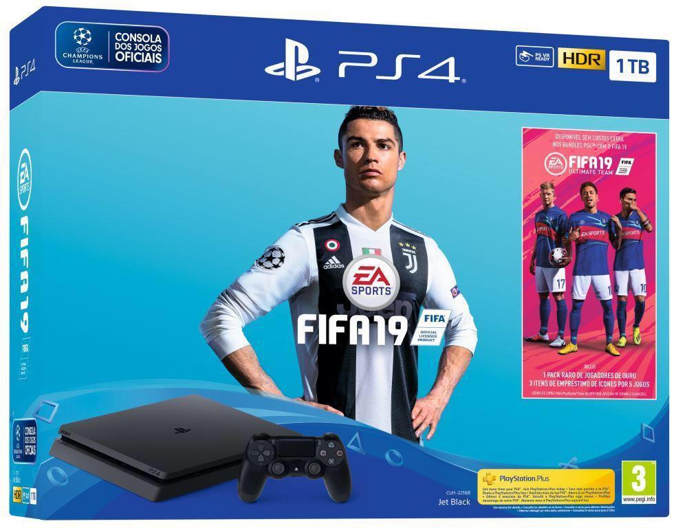 CONSOLA PS4 1TB+FIFA 19