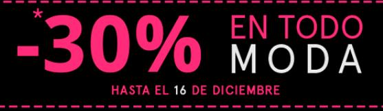 -30% en TODO MODA en Careffour