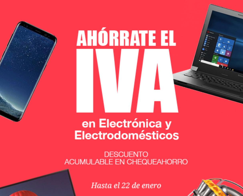 CARREFOUR: Ahórrate el IVA en selección de Electrónica y Electrodomésticos.
