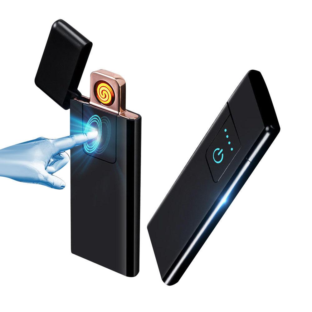 Encendedor ultradelgado de huella digital y recargable por USB
