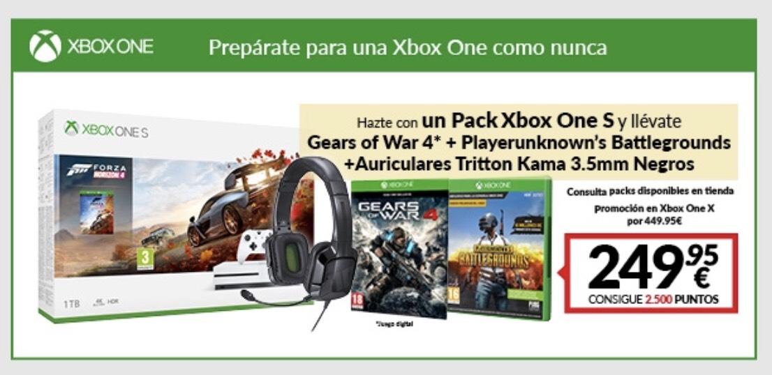 Xbox one s 1tb + gears of war 4 + pubg + auriculares tritton