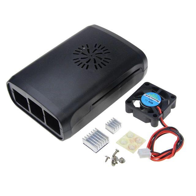 Funda con carcasa ventilador y disipador de calor para raspberry pi 2 3 3b