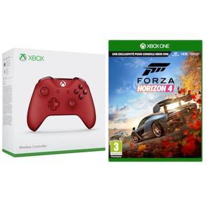 Mando Xbox rojo + Forza Horizon 4 + Gears of War 4 o Blanco con PES 2019 por 59,99€