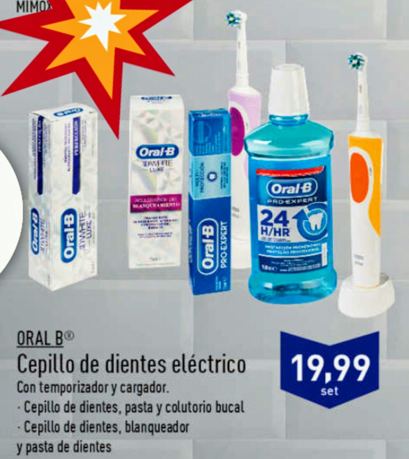 PACK Braun Oral B - Cepillo dientes eléctrico + pasta + colutorio
