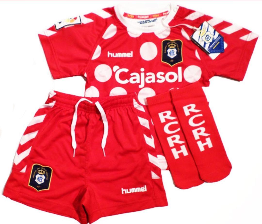 Equipación Recreativo de Huelva temporada 2012/13 niños 1 año