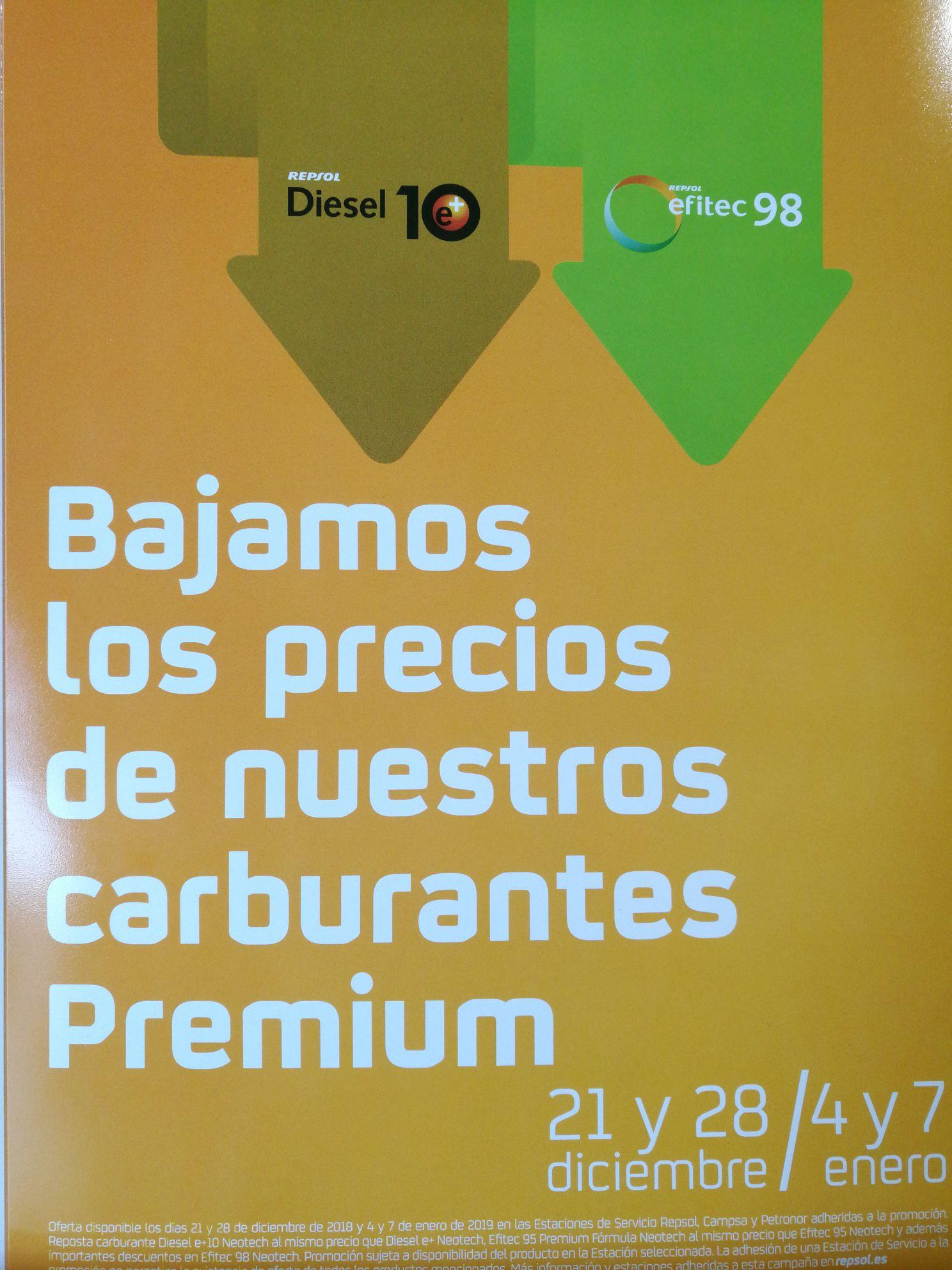 Descuento diésel y gasolina Repsol