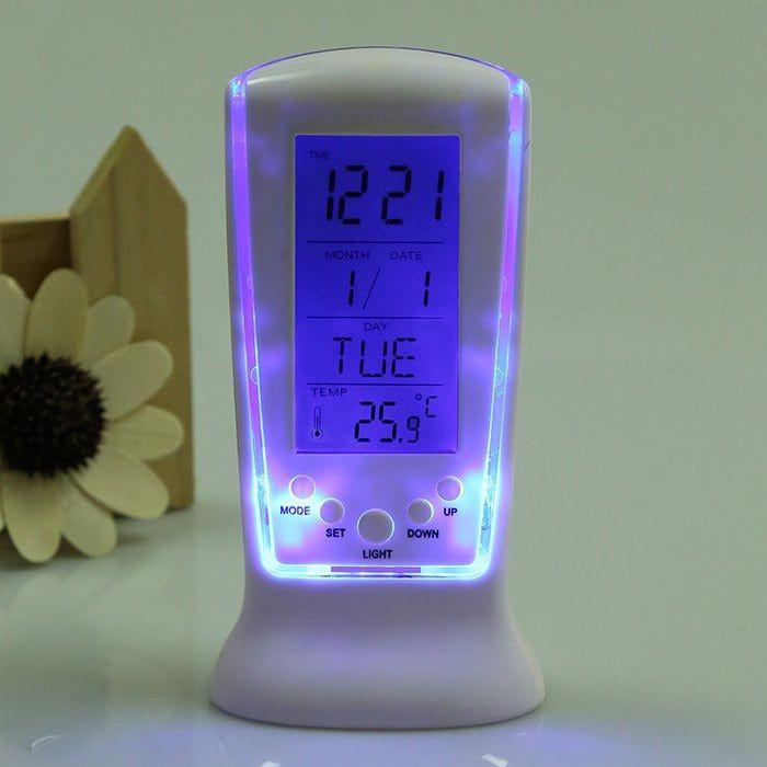 Despertador con termómetro, código GMGYB1