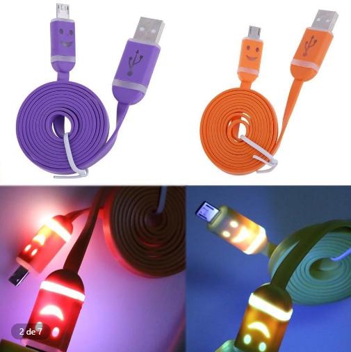 Cable de cargador con luces