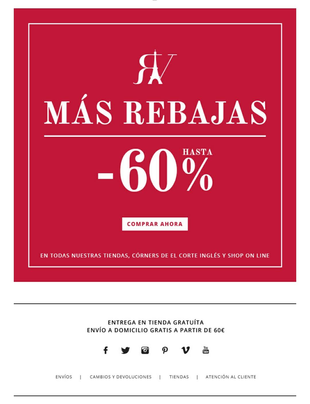 Hasta 60% en Roberto Verino