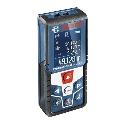 Medidor láser de distancias (alcance 50 m, inclinómetro, conexión Bluetooth, con funda)