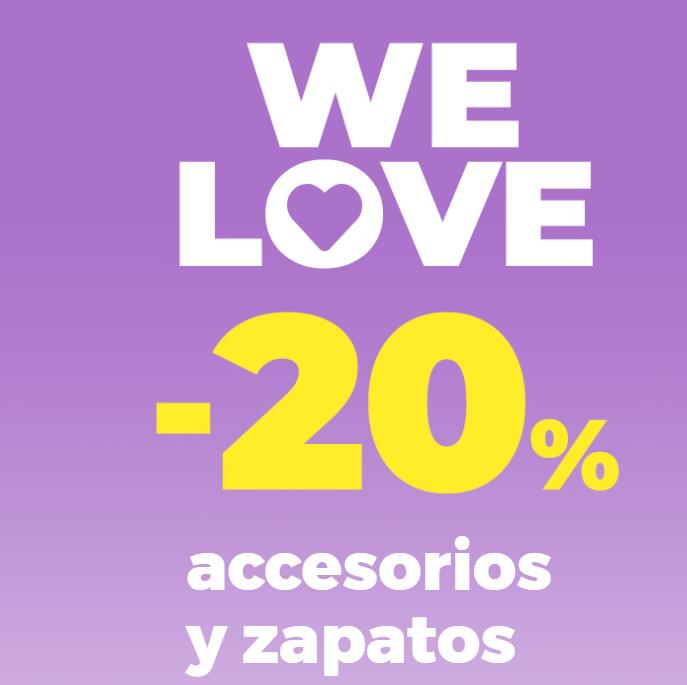 -20% en accesorios y zapatos en Stradivarius.