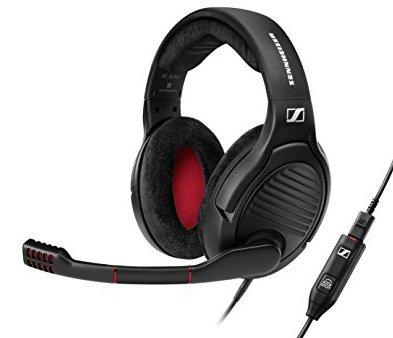 Sennheiser PC 373D - Auriculares para Gaming, Color Negro y Rojo