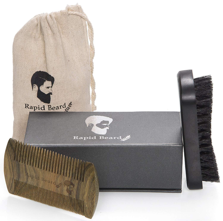 Cepillo para Barba Y Peine para Barba kit de cuidado Para Hombre