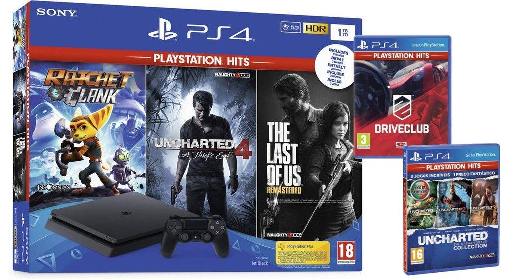 PS4 Slim 1Tb +7 Juegos (Mediamarkt Portugal)