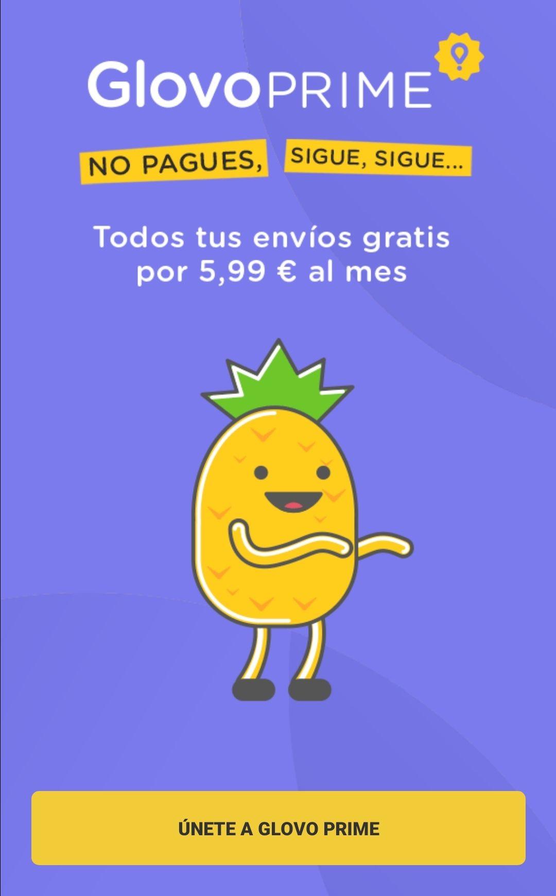 Glovo Prime - Envíos ilimitados por 5,99€