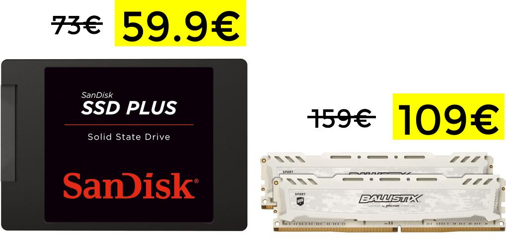 Preciazos en RAM y SSD 480GB