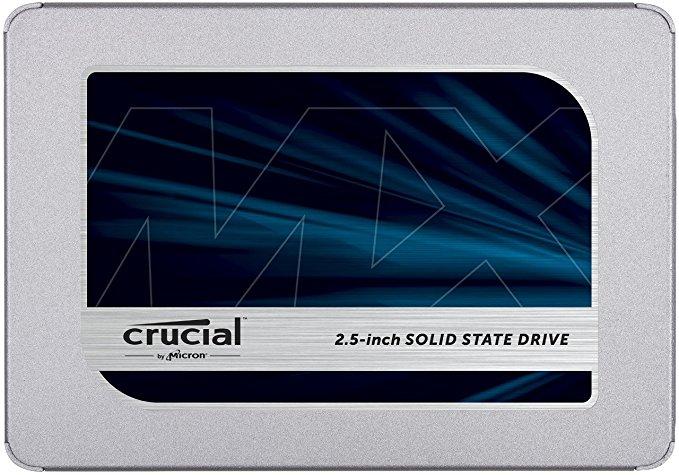 SSD 1 TB (129 €) 500 GB (72,99 €) 250 GB (49,99 €) Crucial MX500